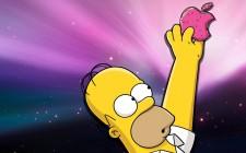 Homero alcanzando la manzana de Mac