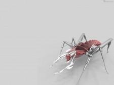insecto robot rojo