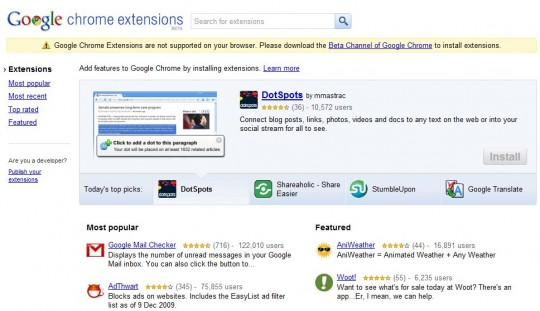 Google Chrome Extentions