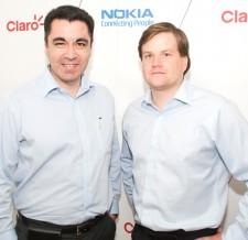 de izq a der: Vady Guerra, Director de Servicio de Valor Agregado de Claro y Anthony Yorston gerente de Servicios de Nokia Chile.)
